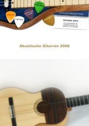 Akustische Gitarren 2008 - MG-Guitars - Michael Götz