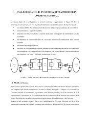 1. analisi dinamica di un sistema di trasmissione in corrente continua