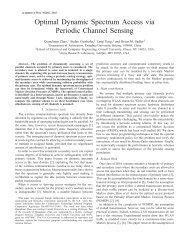 Optimal Dynamic Spectrum Access via Periodic ... - ResearchGate