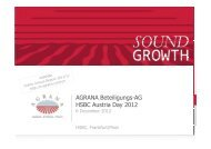 Presentation Roadshow Frankfurt [6 December 2012] - Agrana