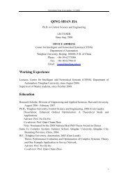 QING-SHAN JIA Working Experience Education - CFINS