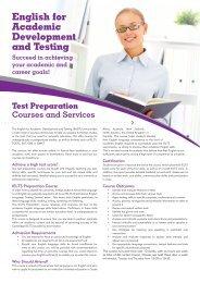 Download EADT Information 2013 Brochure - Wits Language School