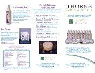 Certified Organic Skin Care Bars - Thorne Research