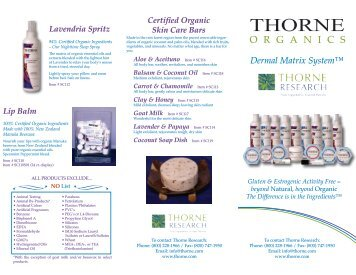 Certified Organic Skin Care Bars - Thorne Research