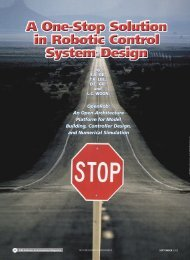 A one-stop solution in robotic control system design ... - IEEE Xplore