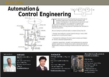Taylor & Francis/CRC Press Automation and Control Engineering ...