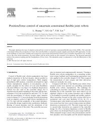 Position/force control of uncertain constrained flexible joint robots