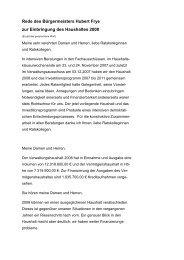 Rede des Bü rgermeisters Hubert Frye zur Einbringung ... - Saterland