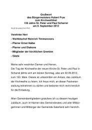 Grußwort des Bürgermeisters Hubert Frye zum ... - Saterland