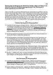 Satzung über die Reinigung der öffentlichen Straßen ... - Saterland