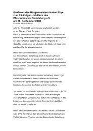 Grußwort des Bürgermeisters Hubert Frye zum 75 ... - Saterland