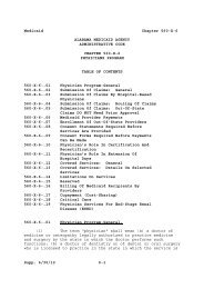 Medicaid Chapter 560-X-6 Supp. 6/30 - Alabama Administrative Code