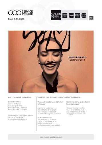 2. l'actualite des salons - maison-objet-press.com