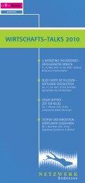 Wirtschafts-talks 2010 - Netzwerk-Bodensee