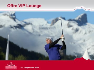 Offre VIP Lounge - European Masters