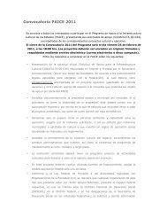 Convocatoria PAICE 2011 - Dirección General de Vinculación Cultural