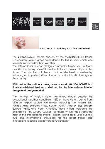 MAISON&OBJET January 2013 - maison-objet-press.com