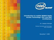 Introduction to mobile WiMAX Radio Access Technology: PHY and ...