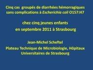 Lucian K 22 mois 12/9: gastro 30/9: copro E coli O157H 7 stx ... - ESKA