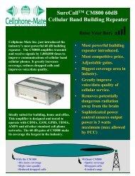 CM800-60 Spec Sheet - MyCellSignalBooster.Com