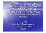 les thromboses veineuses superficielles des membres ... - ESKA