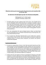Stellungnahme - Forum Menschenrechte