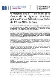 FreeboxTV / FTV / Coupe de la Ligue - Iliad