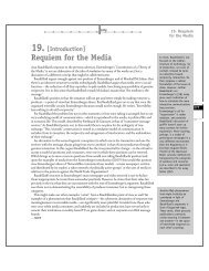Requiem for the Media