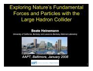 Exploring Nature's Fundamental Forces and ... - Www Atlas Lbl