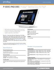 Product Specifications: P-IDOC-PAD-DSC - Special-Elektronik AB