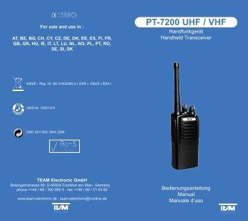 PT-7200 UHF / VHF - Team Electronic