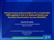 U.S. National Health and Nutrition Examination Survey (NHANES)