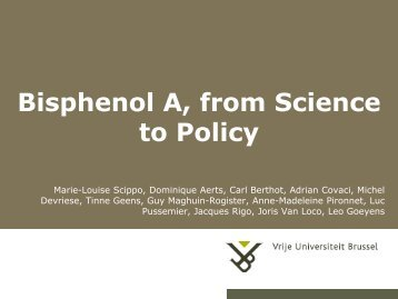 Bisphenol A, from Science to Policy