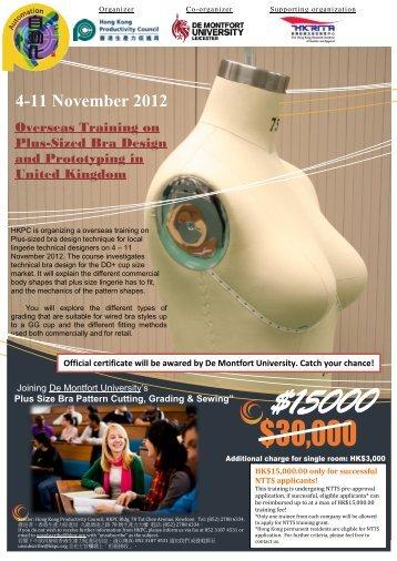 Overseas Training on Plus-sized Bra Design and Prototyping ... - hkrita