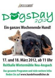 Ein ganzes Wochenende Hund! 17. und 18. März 2012, ab 11 Uhr
