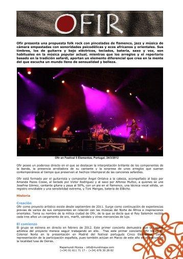 Ofir presenta una propuesta folk rock con pinceladas de flamenco ...