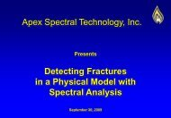 Apex Spectral Fracture Detection on a Physical Model Jan. 01, 2012