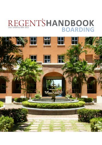 Boarding Handbook 2013/14 - Regents School