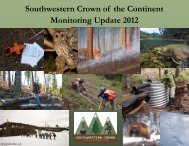 2012 Monitoring Update - The Southwestern Crown Collaborative