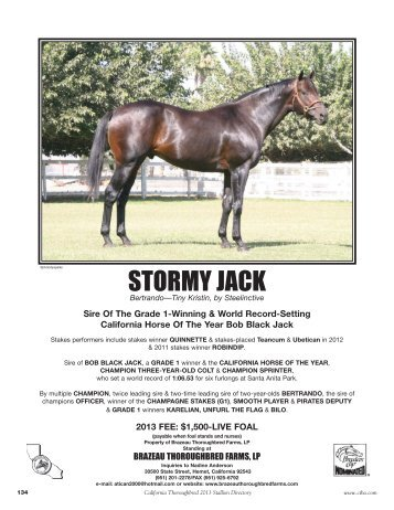 STORMY JACK - California Thoroughbred Breeders Association