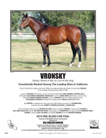 VRONSKY - California Thoroughbred Breeders Association