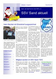 Magazin SSV Sand aktuell - Augabe 2011-3 - SportOn