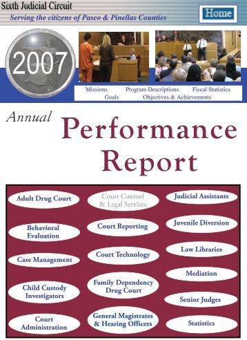2007 Sixth Judicial Circuit Annual Performance Report