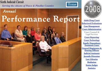 Annual Performance Report – 2008 - Sixth Judicial Circuit