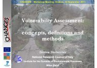 Vulnerability Assessment: concepts, definitions and ... - Changes