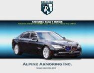 ARMORED BMW 7 SERIES - Alpine Armoring Inc.