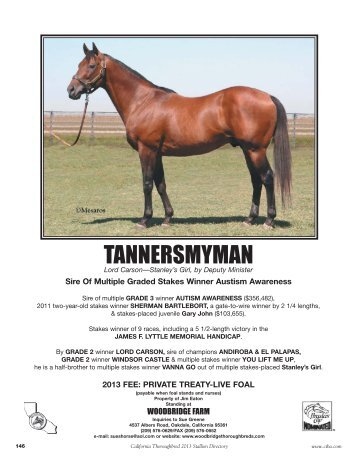 TANNERSMYMAN - California Thoroughbred Breeders Association