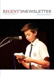 Secondary Newsletter 27thSeptember 2013 - Regents School
