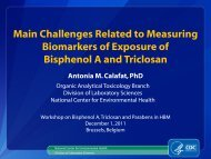 Main Challenges Related to Measuring Biomarkers of Exposure of ...