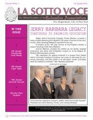 JERRY BARBARA LEGACY - FDNY Columbia Association